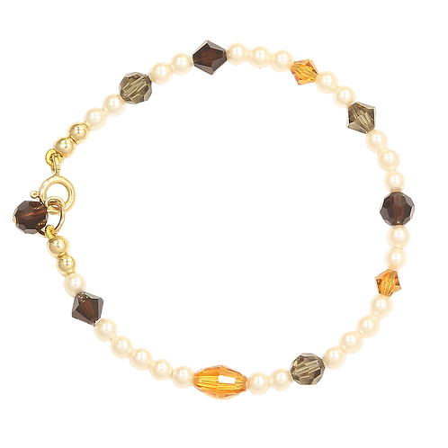 Autumn Browns pearl bracelet