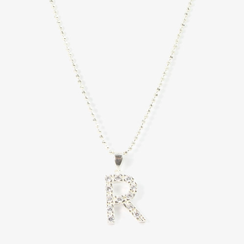 Sterling silver initial necklace  R