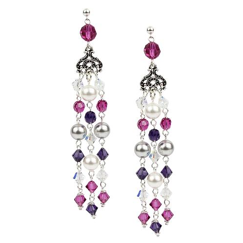 Empire Earrings - Winter Pinks (long)