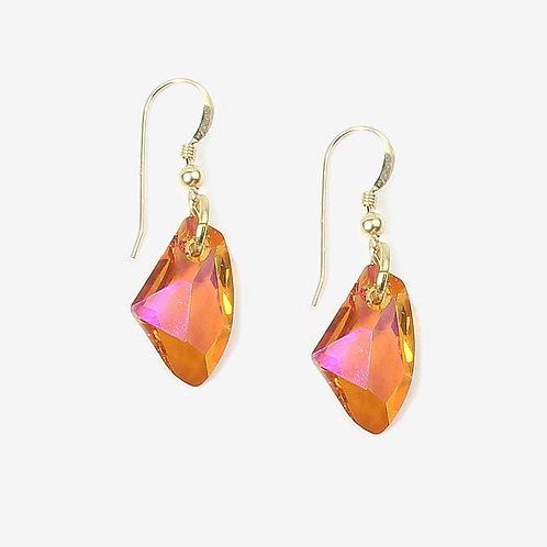 Crystal Galactic Crystal earrings - Copper