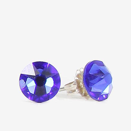 7mm Crystal Stud Earrings - Majestic Blue