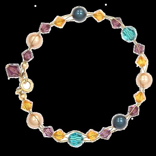 Bright Autumn Mix Plait bracelet