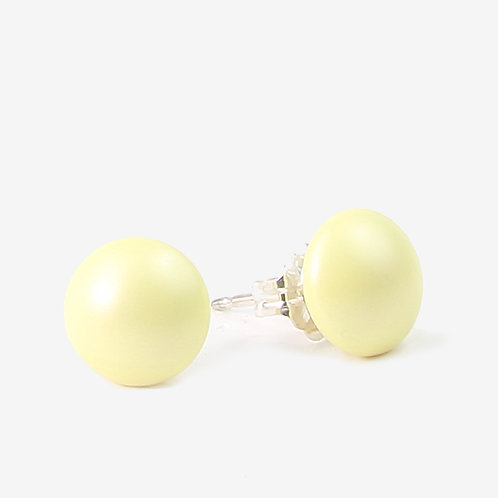 Crystal Pearl Stud earrings - Yellow