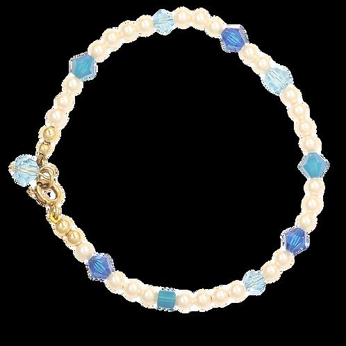 Spring Blues pearl bracelet