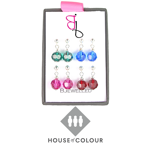 House of Colour Drop Earring Set - Winter
