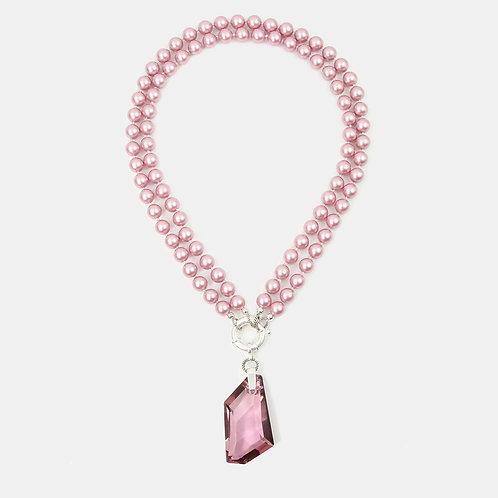 Antique Pink & Powder Rose detachable necklace