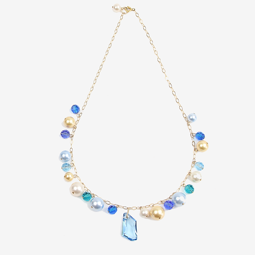 Blue Spring Charm necklace