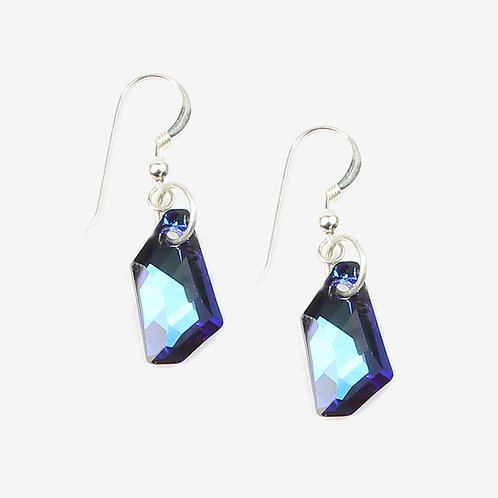 Swarovski De Art Crystal earrings - Bermuda Blue