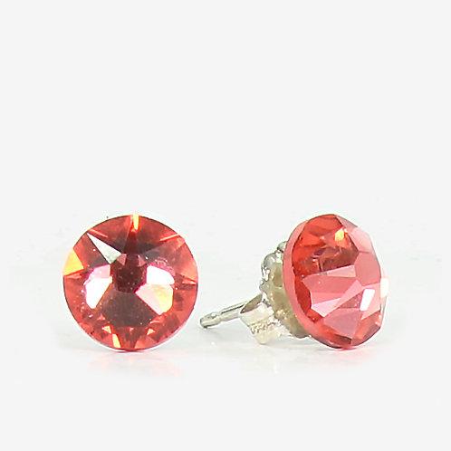 7mm Crystal Stud Earrings - Paparadasha