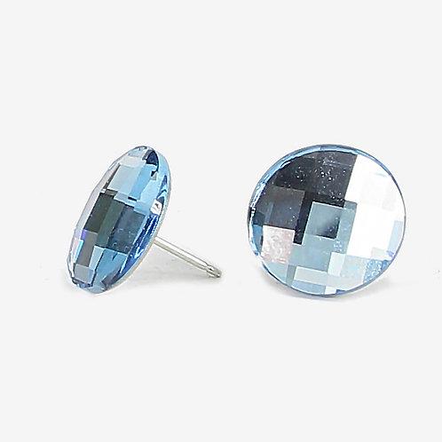 Crystal Chessboard stud earrings - 6 colours