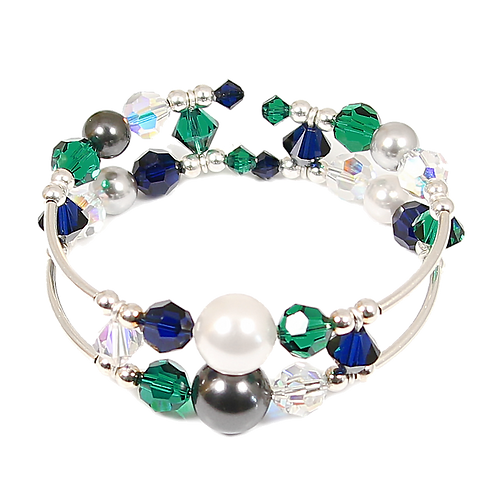 Indigo & Emerald Adele Cuff Bracelet