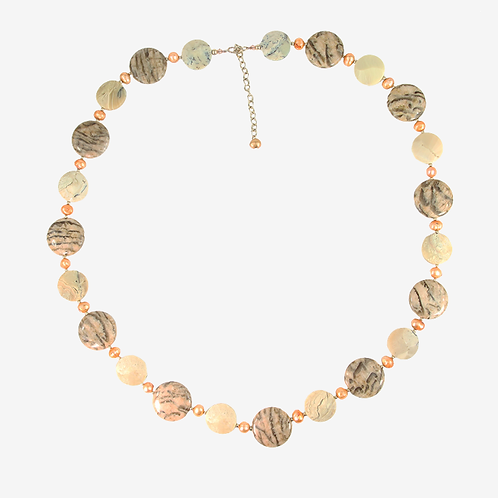 Jasper & Pearl Gold necklace