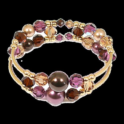 Deep Burgundy Adele Cuff Bracelet