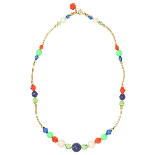 Bright Spring Curved Link necklace