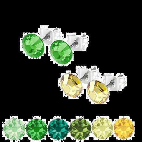 Green & Yellow Stud Earrings