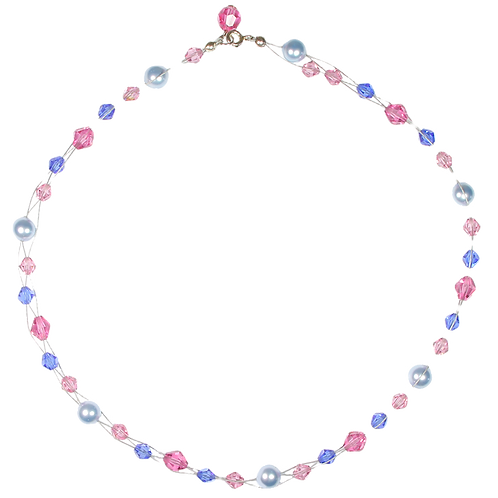 Summer Pastel Plait necklace
