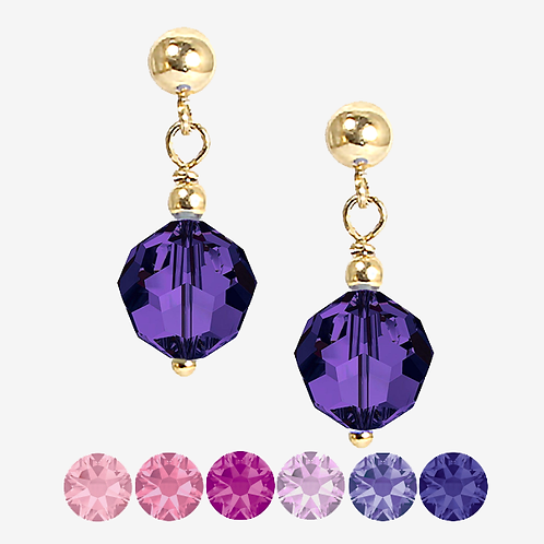 Pink & Purple Drop Earrings