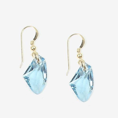 Crystal Galactic Crystal earrings - Aqua