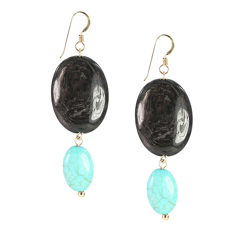 Hyperstone with Turquoise and 14K gold-fill