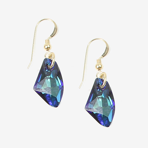 Swarovski Galactic Crystal earrings - Bermuda Blue
