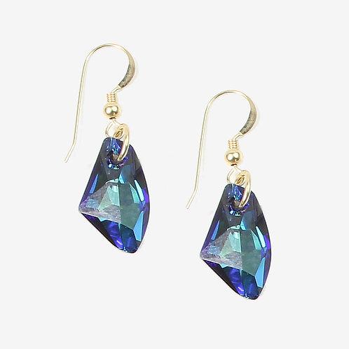 Crystal Galactic Crystal earrings - Bermuda Blue