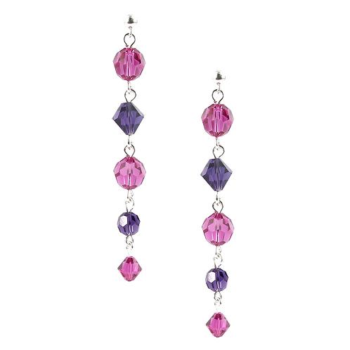 Pink & Purple long earrings