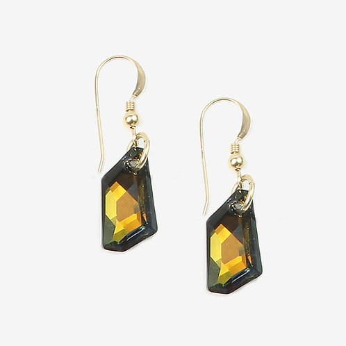 Swarovski De Art Crystal earrings - Tabac