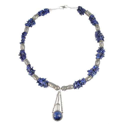 Berber Tribal Silver and Lapis Lazuli necklace