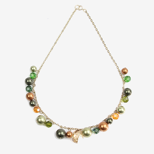 Vibrant Autumn Leaf Charm necklace