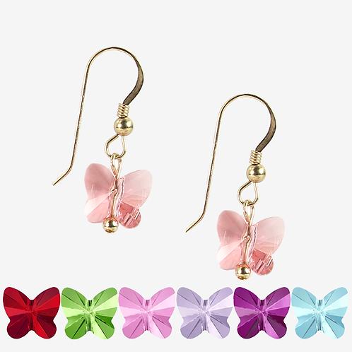 Swarovski Butterfly earrings - 10 colours