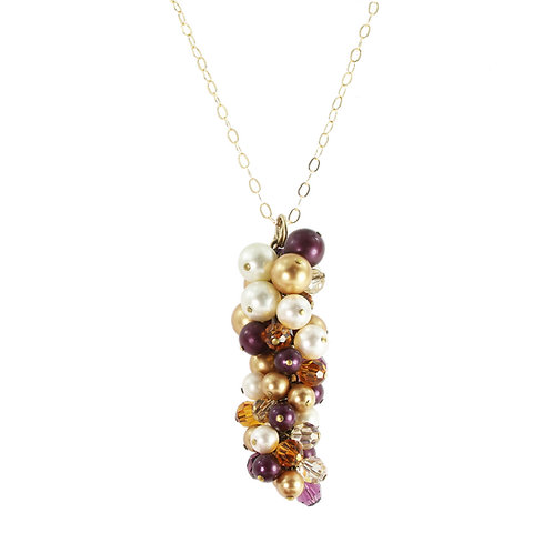 Autumn Golden Berry Cluster Pendant