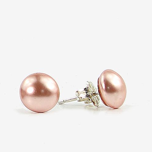 Swarovski Pearl Stud earrings - Peach