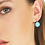 Thumbnail: Crystal Pearl Drop Earrings - Blues