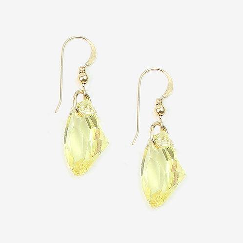 Crystal Galactic Crystal earrings - Jonquil