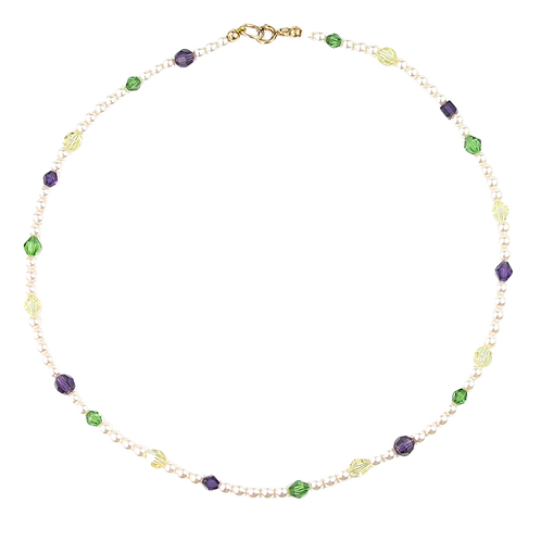 Arabella necklace in purple & green