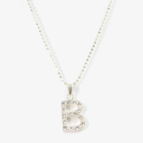 Sterling silver initial necklace  B