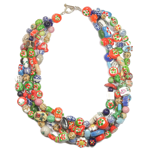 Terracotta Funfair necklace