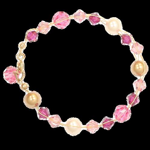 Spring Blossom plait bracelet