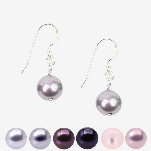 Purple & Pink Pearl Hook earrings