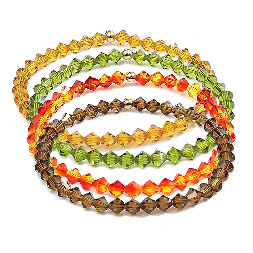 Autumn crystal bracelet sets