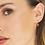 Thumbnail: Brown & Peach Drop Earrings