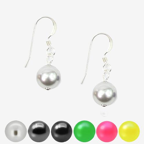 Grey, Black & Neon Pearl Hook earrings