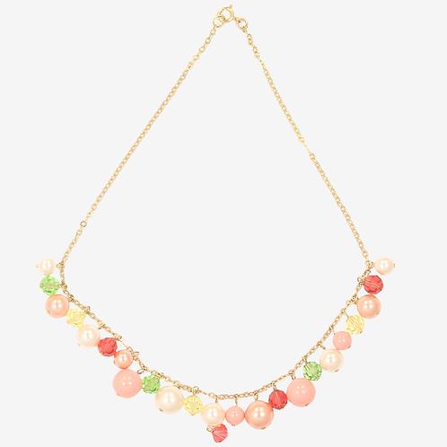 Golden Peach Charm necklace
