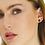 Thumbnail: Gold, Brown & Black Stud Earrings