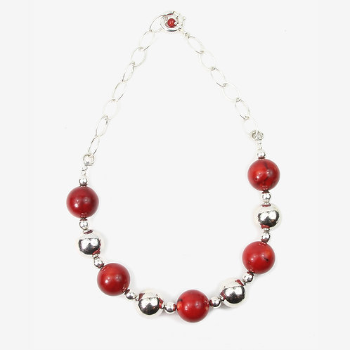 Red Sea-Bamboo & Silver Statement necklace