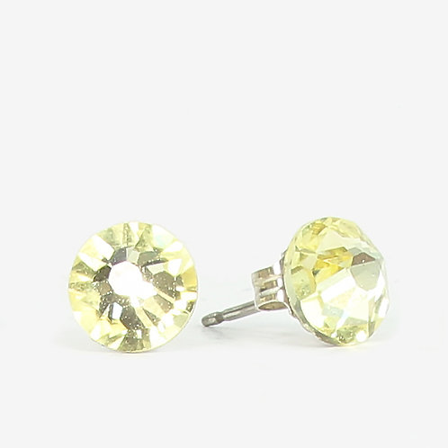7mm Crystal Stud Earrings - Jonquil