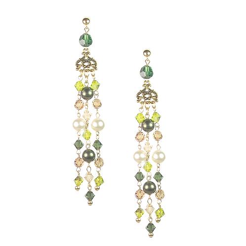 Empire Earrings - Forest Green