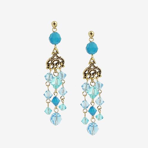 Sea Blue Empire Earrings  S
