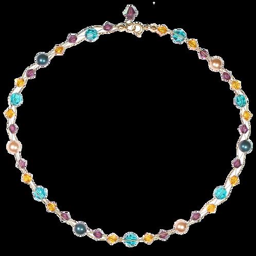 Autumn Mix plait necklace