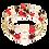 Thumbnail: Poppy Red Adele Cuff Bracelet